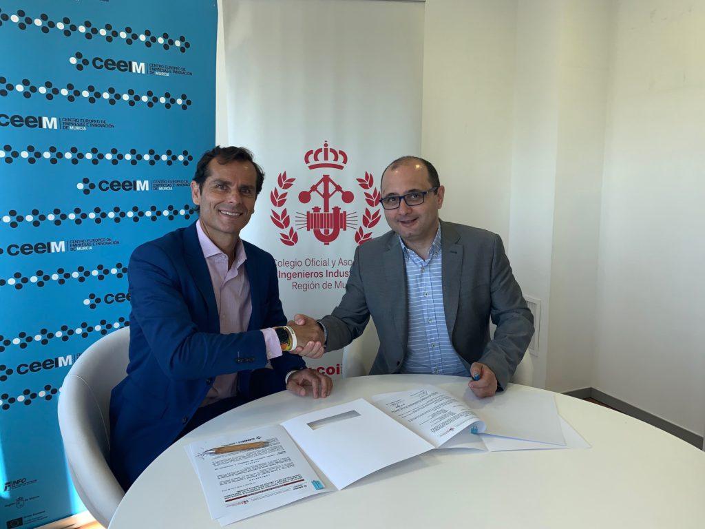 firma del convenio de colaboración entre el coiirm, ceeim y ceeic